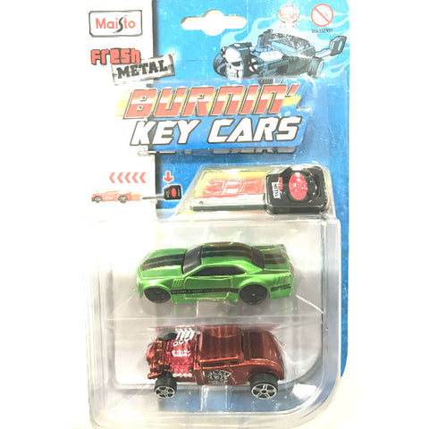 Maisto Fresh Metal Burnin' Key Cars Stallion and Knuckle Dragger - Hobbytoys
