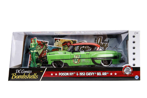 Jada 1953 Chevy BEL Air Hard Top with poison ivy figure 1/24