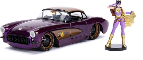 Jada 1957 Chevy Corvette with Batgirl figure 1/24