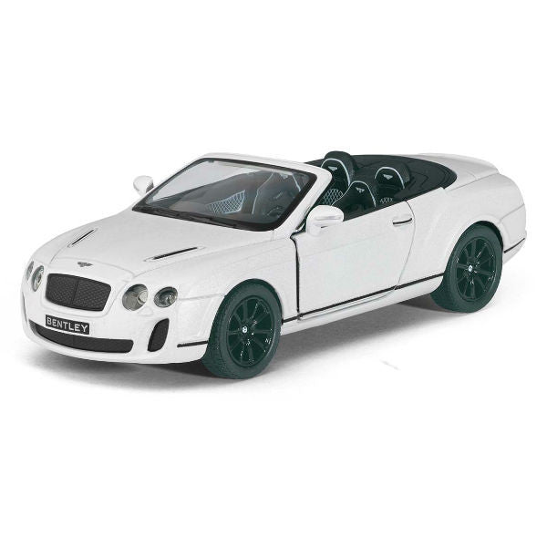 Kinsmart 2010 Bentley Continental Supersports Convertible 1/38 White - Hobbytoys