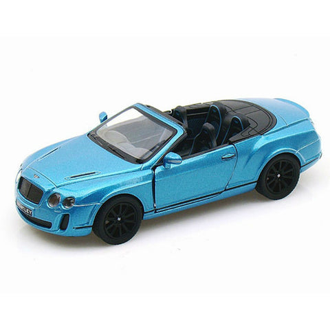 Kinsmart 2010 Bentley Continental Supersports Convertible 1/38 Blue - Hobbytoys - 1