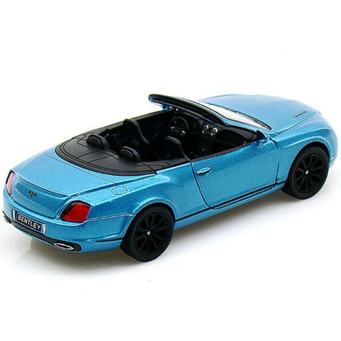 Kinsmart 2010 Bentley Continental Supersports Convertible 1/38 Blue - Hobbytoys - 2