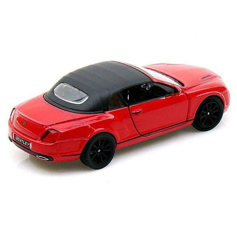 Kinsmart 2010 Bentley Continental Supersports Convertible 1/38 Red - Hobbytoys - 2
