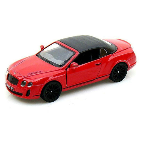 Kinsmart 2010 Bentley Continental Supersports Convertible 1/38 Red - Hobbytoys - 1