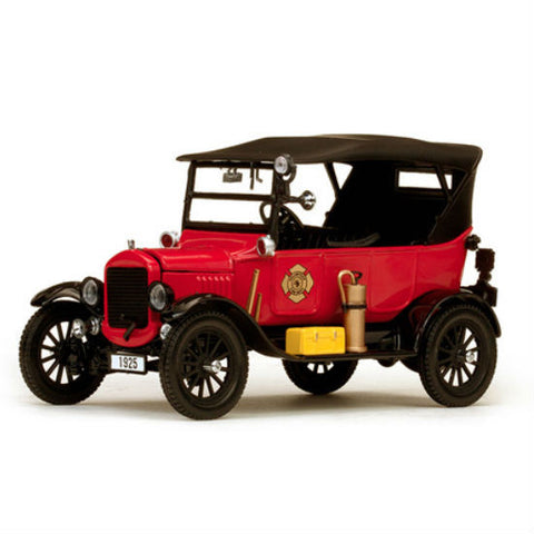 Sun Star 1925 Ford Model T Touring Fire Chief 1/24 Diecast Model Car - Hobbytoys - 1
