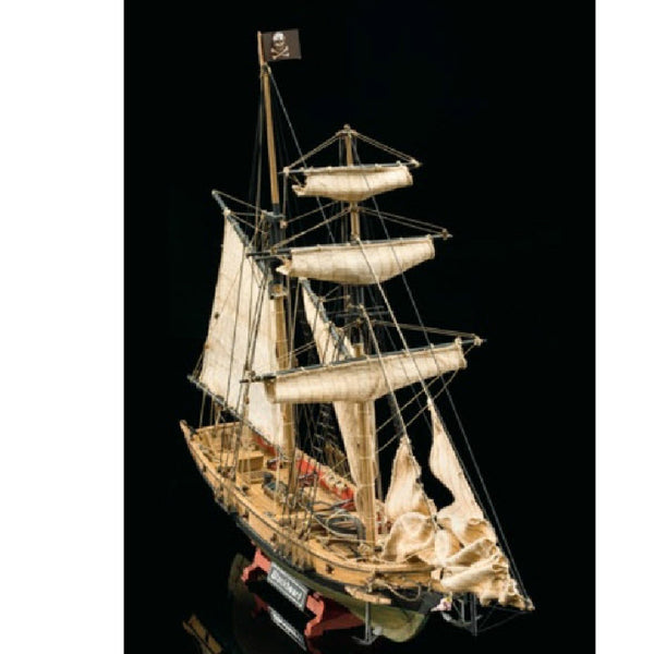 Mamoli Black Beard Pirates Ship Wooden Model Kit - Hobbytoys - 1
