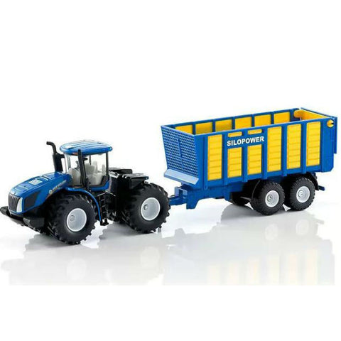 Siku New Holland Tractor With Silage Trailer - Hobbytoys - 1