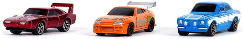 "Fast & Furious 1.65"" Nano 3-Pack Die-cast Cars By Jada"