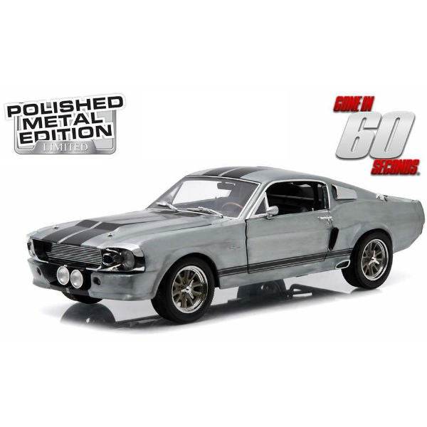 "Greenlight 1967 Gone in 60 Seconds Ford Mustang ""Eleanor"" Polished Metal Ltd. Edition 1/18 - Hobbytoys - 1"