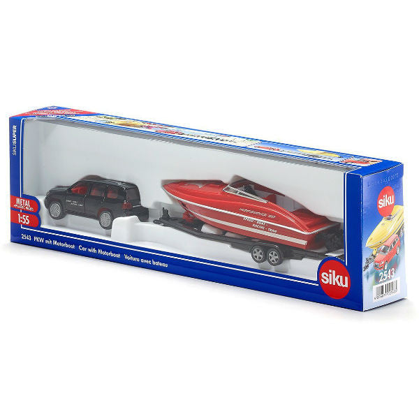 Siku Car With Motorboat - Hobbytoys