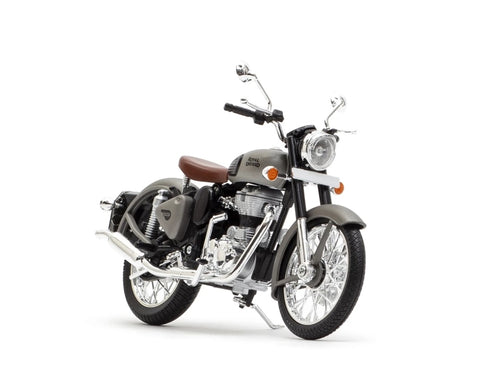 Royal Enfield Classic 500 Gun Metal Grey colour scale 1/12 by Maisto