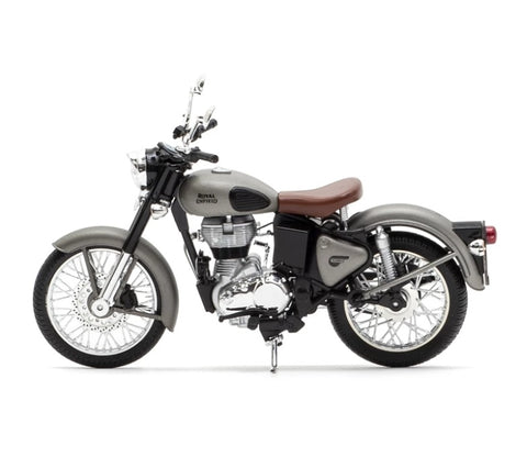 Royal Enfield Classic 350 Gun Metal Grey colour scale 1/12 by Maisto