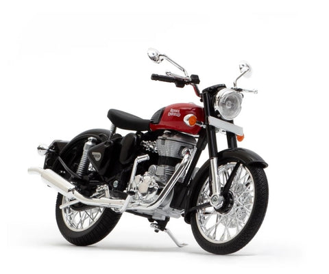 Royal Enfield Classic 350 Redditch Red colour scale 1/12 by Maisto