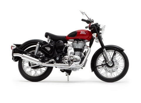Royal Enfield Classic 500 Redditch Red colour scale 1/12 by Maisto
