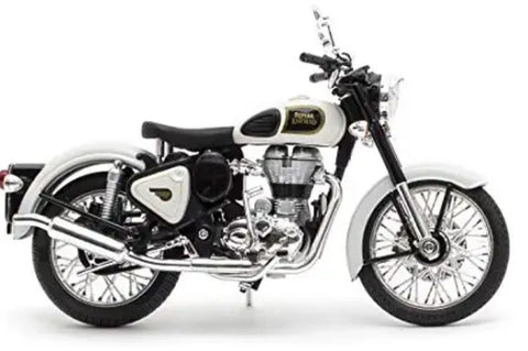 Royal Enfield Classic 500 Ash white colour scale 1/12 by Maisto
