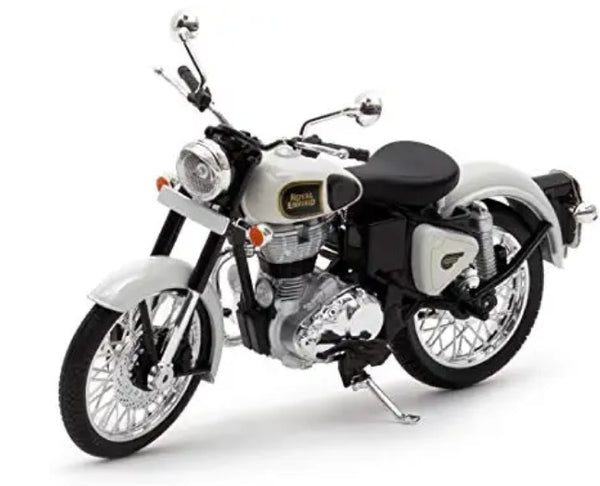 Royal Enfield Classic 350 Ash white colour scale 1/12 by Maisto