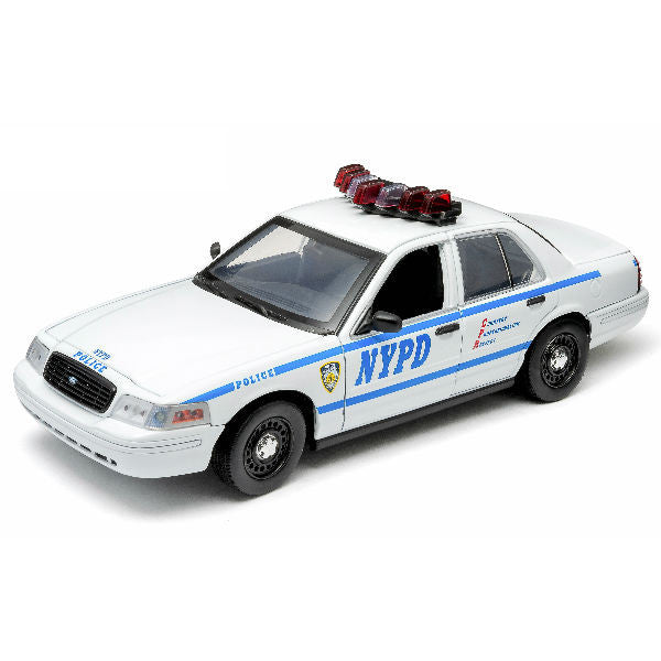 Greenlight 2001 NYPD Ford Crown Victoria Police Interceptor 1/18 White - Hobbytoys - 1