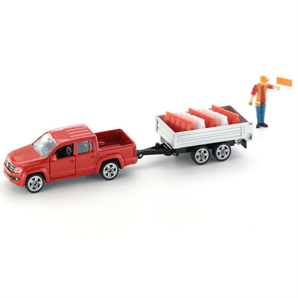 Siku Pick-Up Van With Tipping Trailer - Hobbytoys - 1