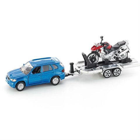 Siku Car With Trailer And Motorbike - Hobbytoys - 1