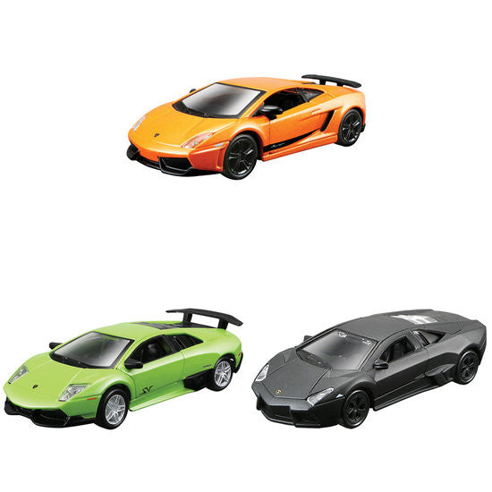 "Maisto Lamborghini Collection-1 4.5"" Pull Back Die-cast Metal Cars - Hobbytoys"