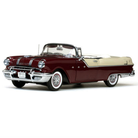 Sun Star 1955 Pontiac Star Chief Open Convertible 1/18 Diecast Model Car - Hobbytoys - 1
