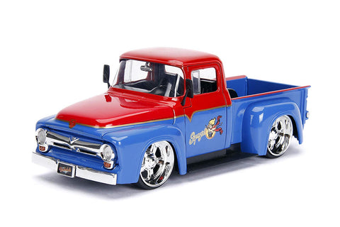 Jada 1956 Ford F100 with Super Girl figure 1/24