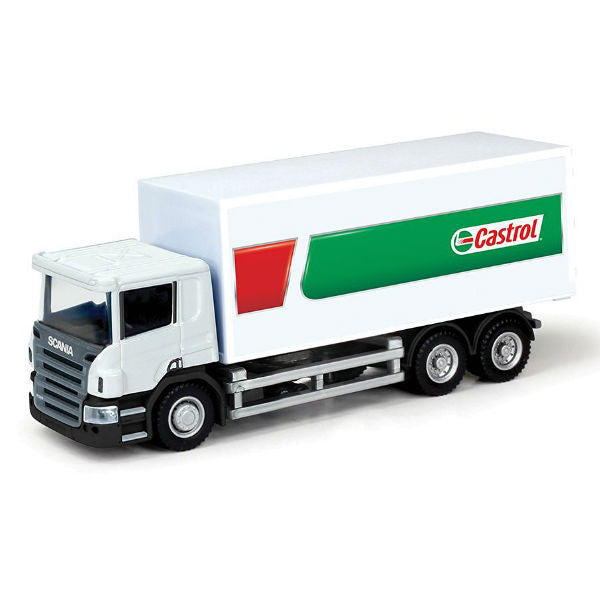 RMZ City Scania P-Series Castrol Container Truck 1/64 - Hobbytoys