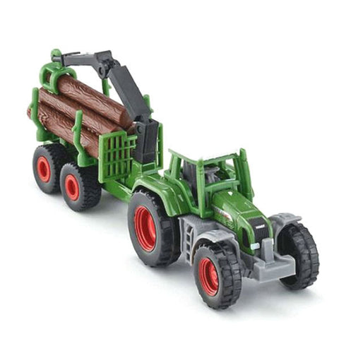 Siku Tractor With Forestry Trailer - Hobbytoys - 1