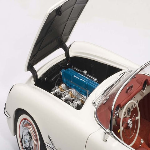 AUTOart 1953 Chevrolet Corvette 1/18 Polo White - Hobbytoys - 2