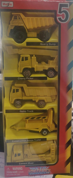Maisto Metal Kruzers 5-Pack Die-cast Construction Vehicles Collection