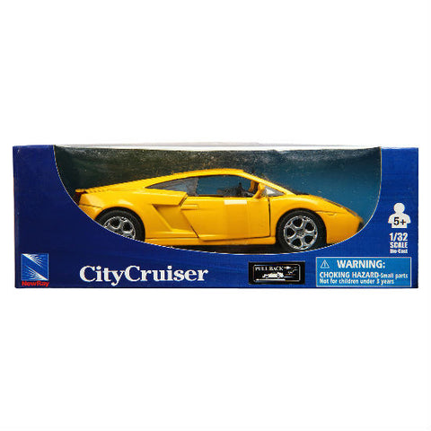New-Ray City Cruiser Lamborghini Gallardo 1:32 - Yellow - Hobbytoys - 2