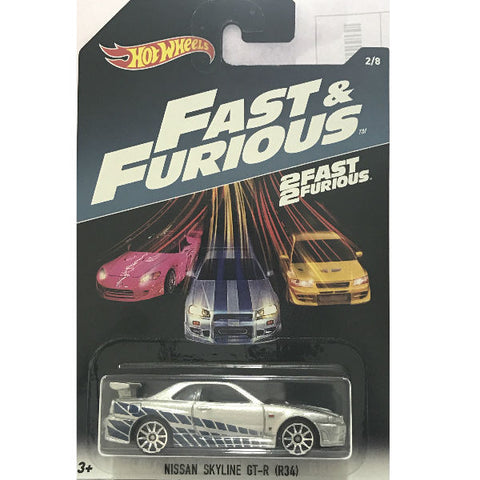 Hot Wheels 2 Fast 2 Furious Nissan Skyline GT-R (R34)