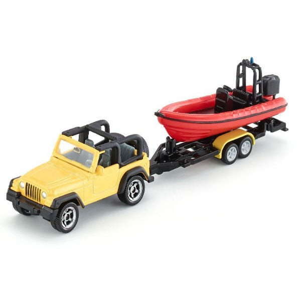 Siku Jeep With Boat - Hobbytoys - 1