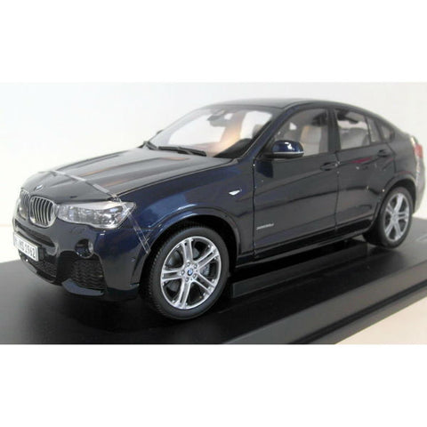 Paragon Models BMW X4 F26 1/18 Imperial Blue - Hobbytoys - 2