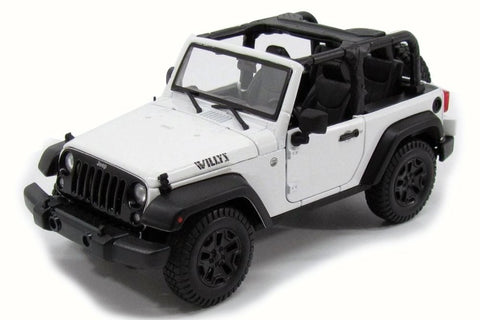 Maisto Jeep Wrangler Rubicon white open top 1/18