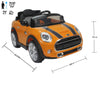 BMW Mini Cooper 195 yellow colour Battery Operated Ride on car
