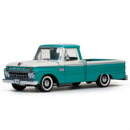 Sun Star 1966 Ford F-100 Custom Cab Pickup 1/18 Diecast Model Car - Hobbytoys - 1