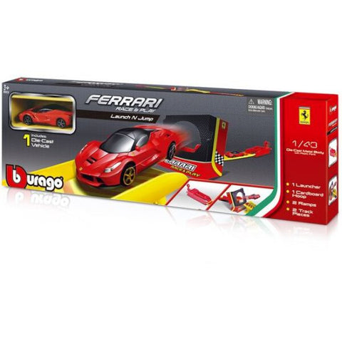 Bburago Ferrari Race & Play Launch n Jump Trackset - Hobbytoys - 2