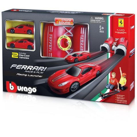 Bburago Ferrari Race & Play Launch n Jump Racing Launcher Playset - Hobbytoys - 2