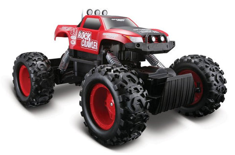 Maisto R/C Rock Crawler Red - Hobbytoys - 2