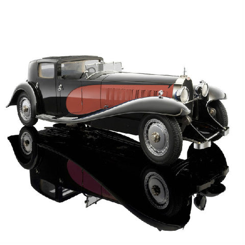 Bauer Bugatti Royale Coupe de Ville Rot 1930 1:18 Die-cast Car Model - Hobbytoys - 2