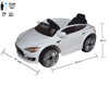 Brunte Telsa 115 Ride on White colour Battery Operated Ride on car
