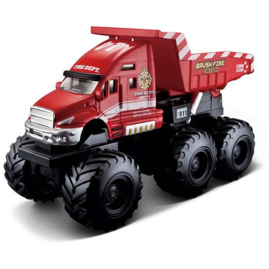 Maisto Builder Zone Quarry Monsters Dump Truck - Red - Hobbytoys - 1