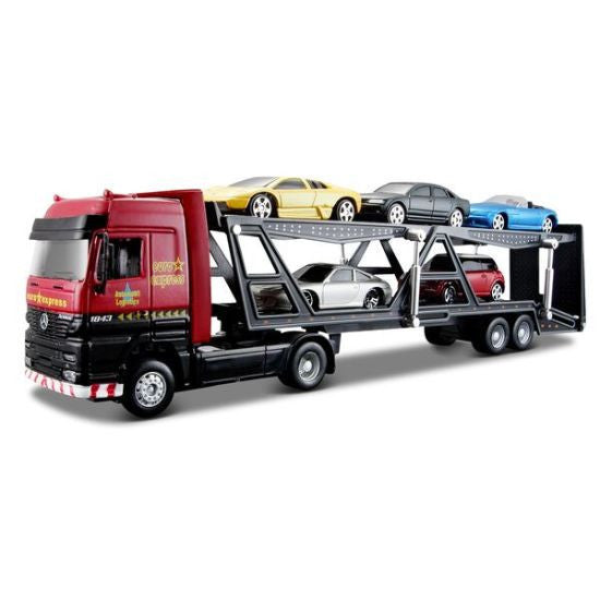 Maisto Truck Line Car Carrier Trailer - Hobbytoys