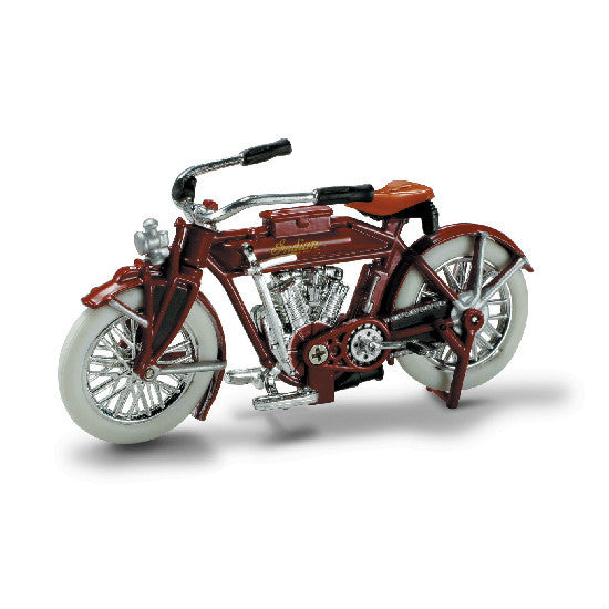 New-Ray 1912 Indian V-2 Die-cast Motorcycle Model 1:32 - Hobbytoys
