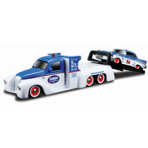 Maisto Elite Transport Missile Tow Flatbed with 1957 Chevrolet Bel Air 1/64