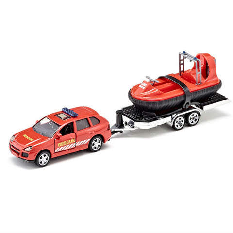 Siku Car With Trailer And Hovercraft - Hobbytoys - 1
