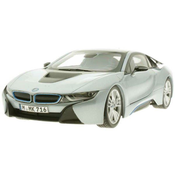 Paragon Models BMW i8 1/18 Silver Blue - Hobbytoys - 1