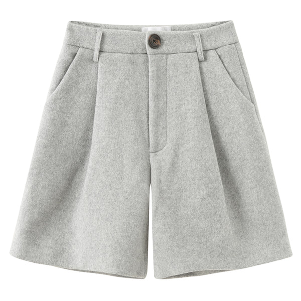 Boyfriend Mohair Shorts - Grey