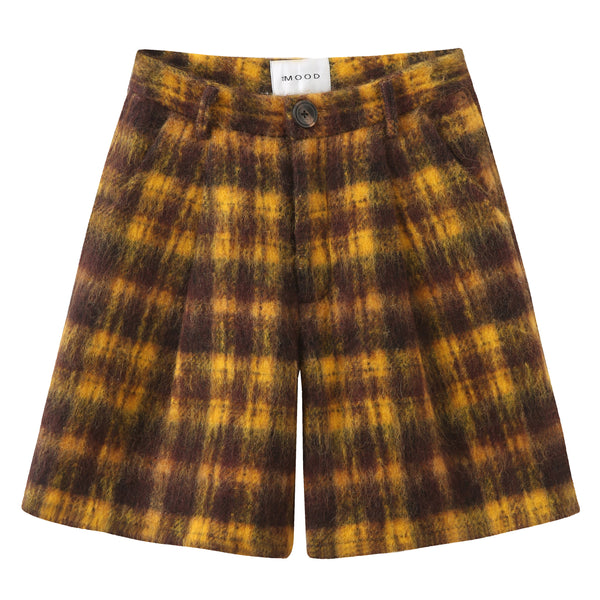 Boyfriend Mohair Shorts - Plaid